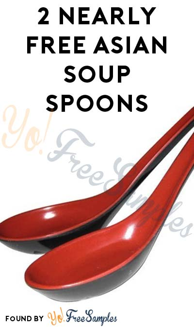 Nearly FREE Asian Red & Black Soup Spoons On Amazon (Free Shipping) [Verified Received By Mail]