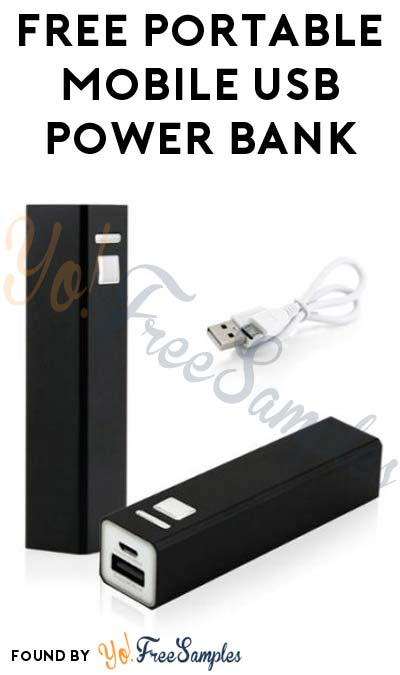 FREE Portable Mobile USB Power Bank (New TopCashBack Members Only)