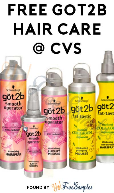 FREE Got2B Hair Care Products At CVS (Ibotta Required)