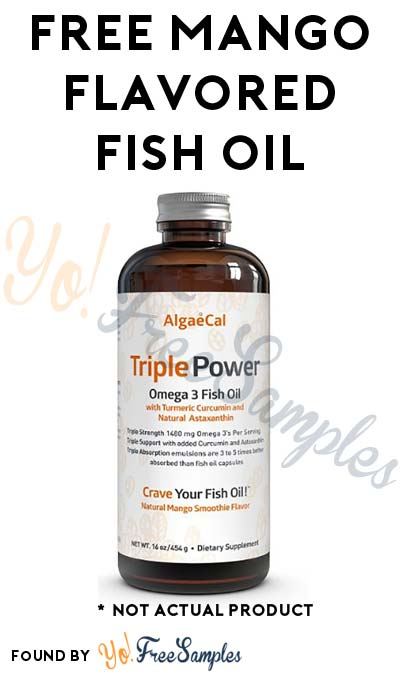 FREE Mango Flavored Fish Oil Bottle (Free Shipping With Prime)