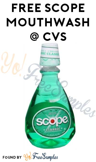 FREE Scope Mouthwash At CVS (ExtraCare Card + Coupon Required)