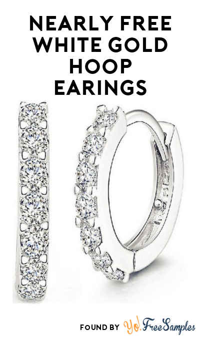 DEAL ALERT: 100% OFF White Gold Plated Cubic Zirconia Hoop Earrings ($4.99 Shipping)