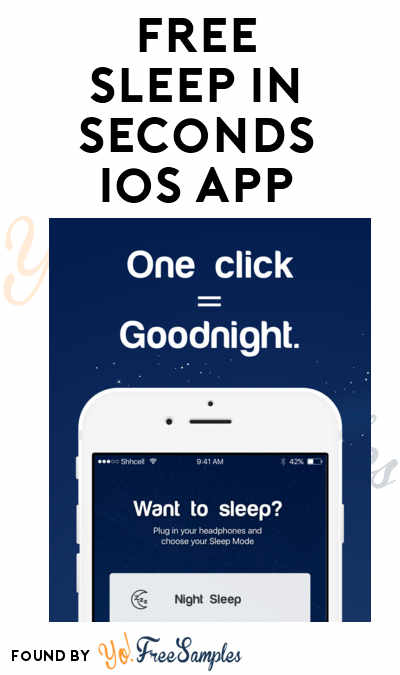 FREE Sleep In Seconds iOS App (Normally $4)