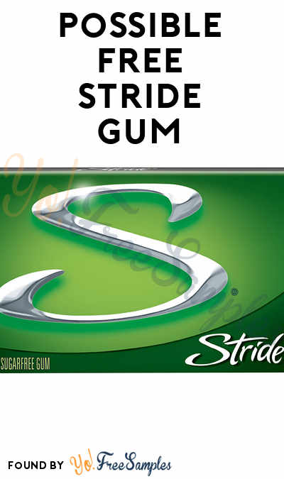 Possible FREE Stride Gum (Smiley360)