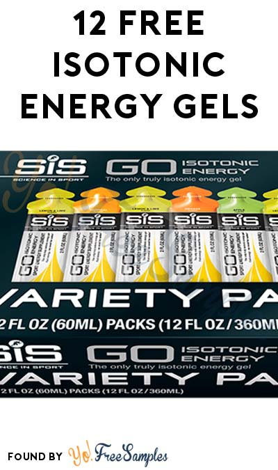 12 FREE Science In Sport Isotonic Energy Gels (Valid Email Required + $7.99 Shipping)