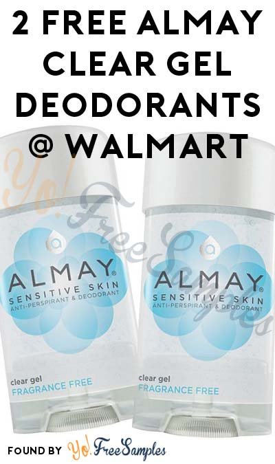 2 FREE Almay Clear Gel Deodorants At Walmart (Coupon Required)