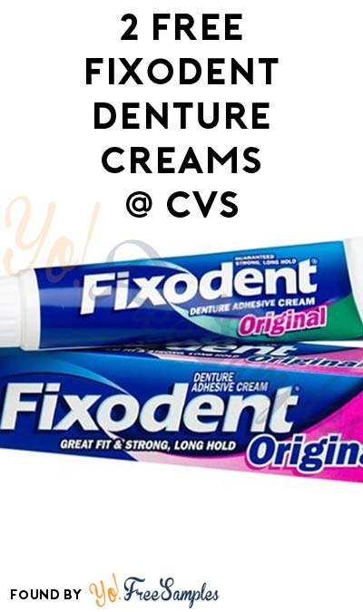 2 FREE Fixodent Denture Cream at CVS (No Coupon Required)