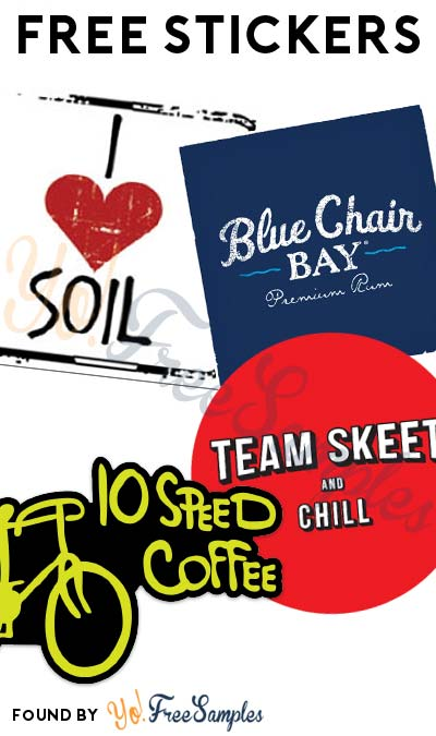 4 FREE Stickers Today: I Heart Soil Sticker, Blue Chair Bay Rum Sticker, Team Skeet (NSFW) Dog Tag Or Stickers Or 10 Speed Coffee Stickers