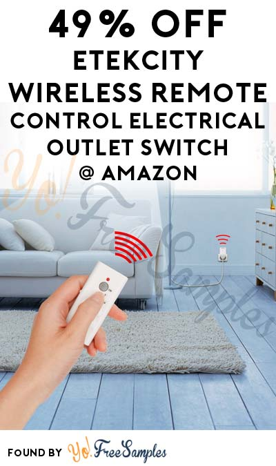 "DEAL ALERT: 49% OFF Etekcity Wireless Remote Control Electrical Outlet Switch On Amazon Using Code ""L8UG9CWI"" [Verified Received By Mail]"