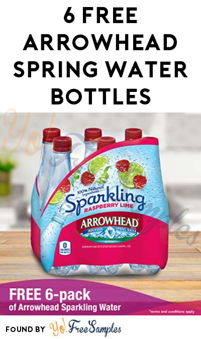 6 FREE Arrowhead Sparkling Spring Water Bottles (AZ, CA, CO, ID, MT, NM, OR, UT, WA, WY ONLY / Facebook Required)
