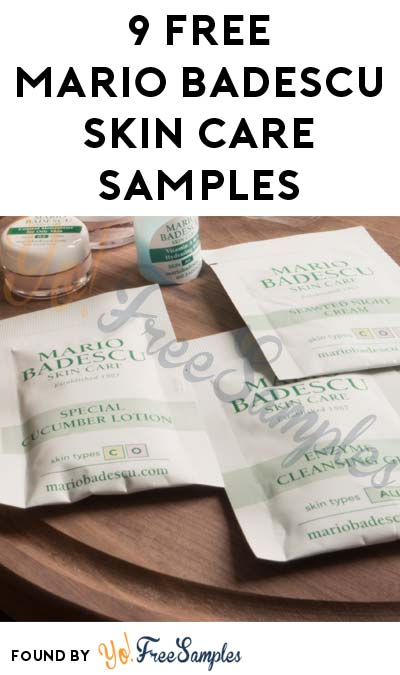 DEAL ALERT: Nearly FREE Mario Badescu Luxury Skin Care Samples ($2.95 Shipping + Questionnaire Required) [Verified Received By Mail]