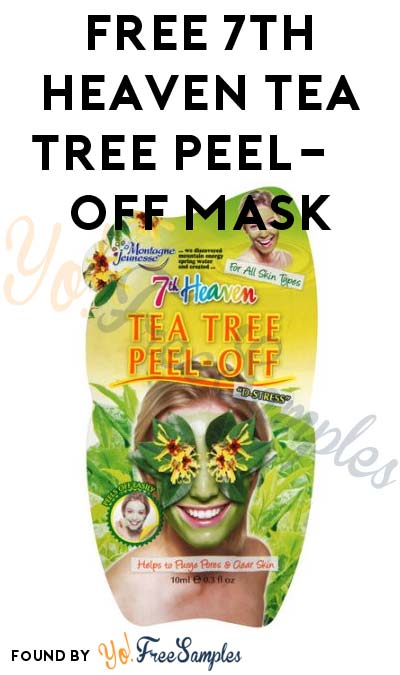 FREE 7th Heaven Tea Tree Peel-Off Mask At 1PM EST / Noon CST / 10AM PST (Facebook / Not Mobile Friendly) [Verified Received By Mail]