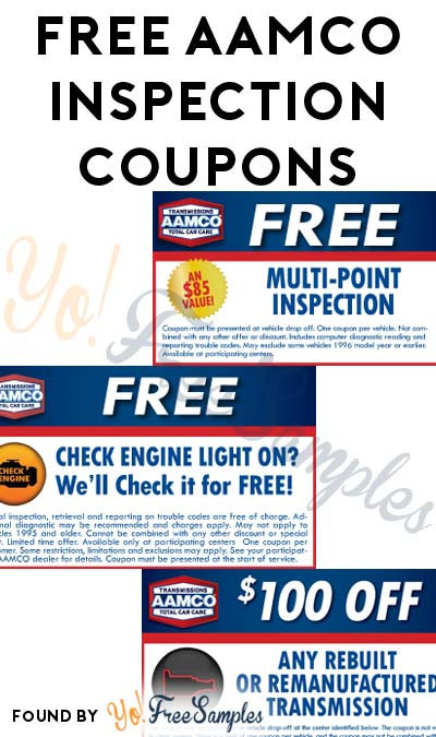 FREE AAMCO Check Engine Light Or Multi-Point Inspection