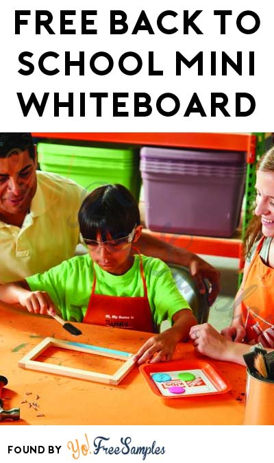Registration Open: FREE Back to School Mini Whiteboard at Home Depot on September 3rd 2016 9AM-12PM