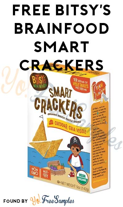 FREE Bitsy's Brainfood Smart Crackers At 3PM EST / 2PM CST / Noon PST (Facebook / Not Mobile Friendly)