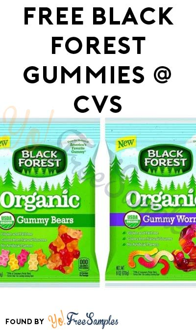 ENDS TOMORROW: FREE Black Forest Organic Gummy Bears or Worms At CVS