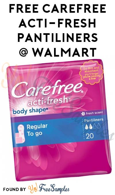 FREE Carefree Acti-Fresh Pantiliners At Walmart (Coupon & Ibotta Required)