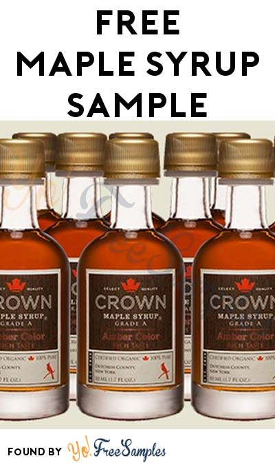 FREE Crown Maple Syrup Petite 50ml Sample (Newsletter Sign Up Required)