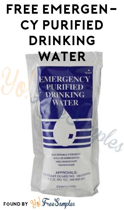 FREE Emergency Purified Drinking Water