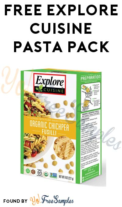 FREE Explore Cuisine Pasta Pack At 3PM EST / 2PM CST / Noon PST (Facebook / Not Mobile Friendly)