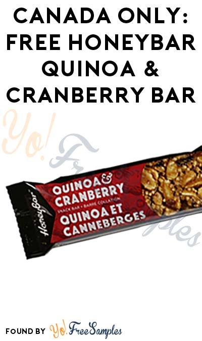 CANADA ONLY: FREE HoneyBar Quinoa & Cranberry Bar At 1PM EST / Noon CST / 10AM PST (Facebook / Not Mobile Friendly)