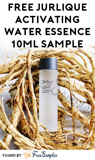 FREE Jurlique Activating Water Essence 10ml Sample (First 400)