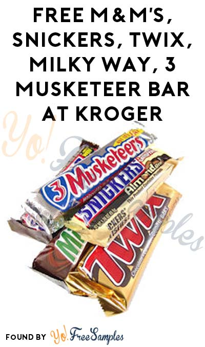 FREE M&M's, Snickers, Twix, Milky Way Or 3 Musketeer Bar At Kroger, Fry's, Ralphs, Dillons & Others