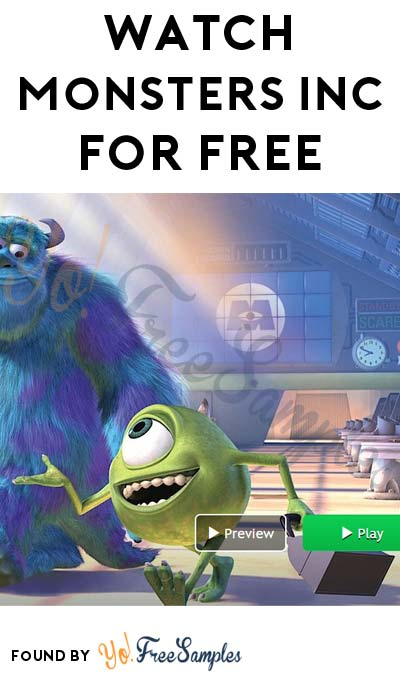 ENDS TODAY: FREE Monsters Inc. Viewing At Disney Movies Anywhere