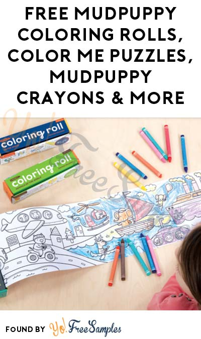 FREE Mudpuppy Coloring Rolls, Color Me Puzzles, Mudpuppy Crayons & More (Apply To Host Party With Tryazon)