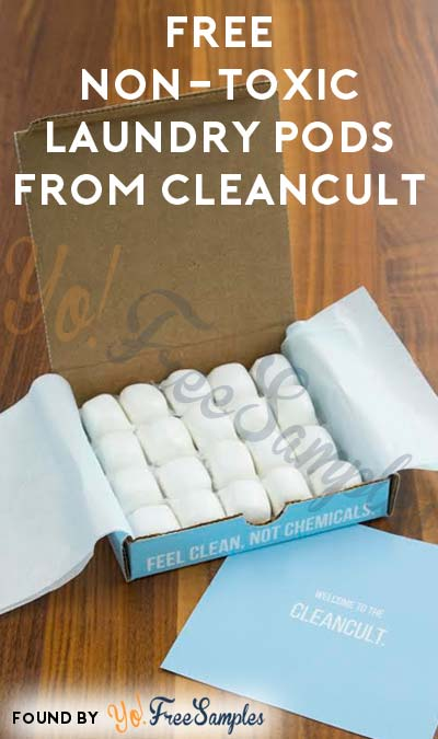 $4.45 Shipping, Nearly FREE Non-Toxic Laundry Pods From CleanCult (Credit Card Required) [Verified Received By Mail]