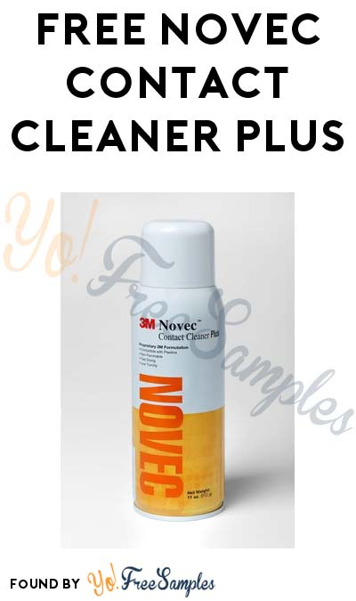 FREE Novec Contact Cleaner Plus & Other Samples From 3M (Company Name Required)