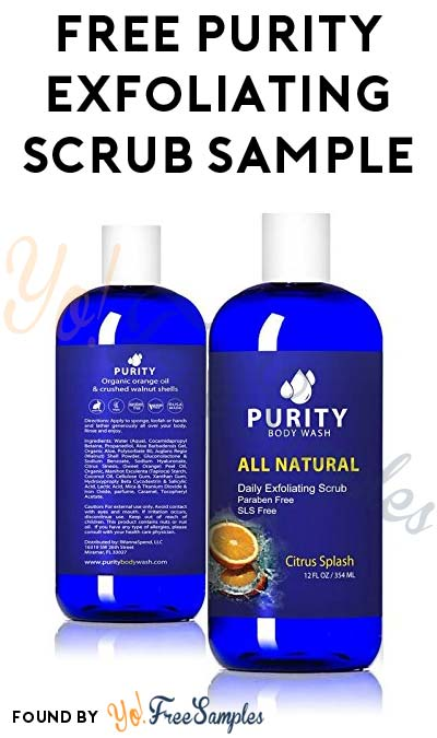 FREE Purity Daily Exfoliating Scrub Sample [Verified Received By Mail]
