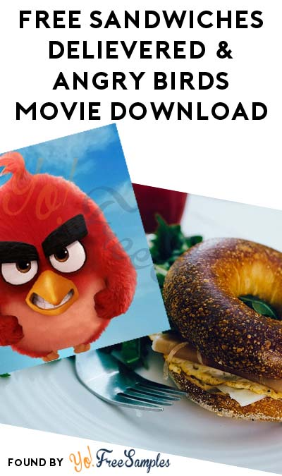 FREE Sandwiches Delivered Nationwide & Angry Birds Movie Download At 5PM EST (Twitter Required)