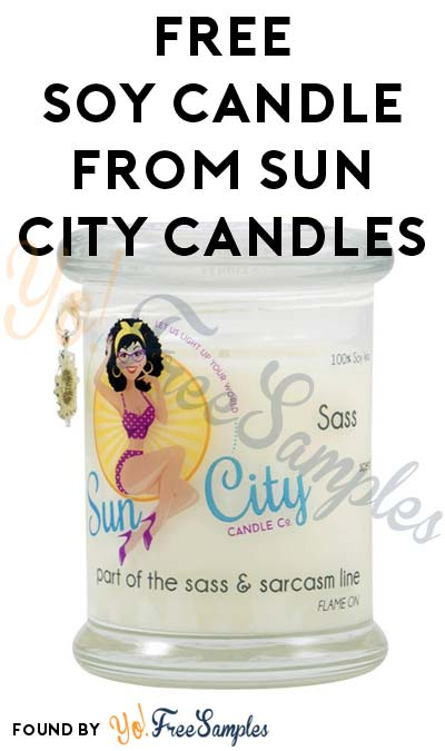 FREE Soy Candle From Sun City Candles