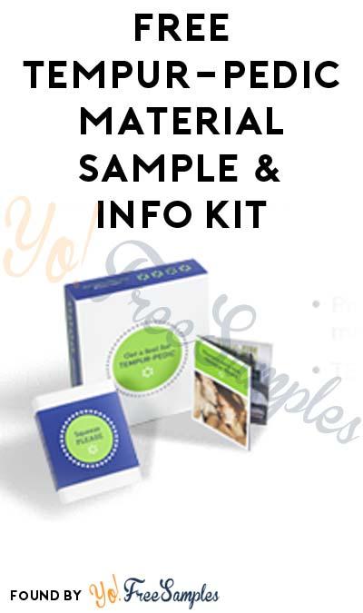 FREE Tempur-Pedic Material Sample & Information Kit