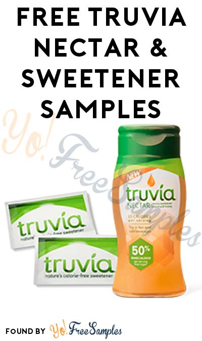 FREE Truvía Nectar & Truvía Zero-Calorie Natural Sweetener Sachets & Coupon (3 Question Survey Required) [Verified Received By Mail]