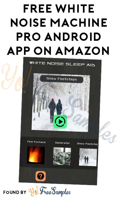 FREE White Noise Machine Pro Android App On Amazon (Normally $1.99)