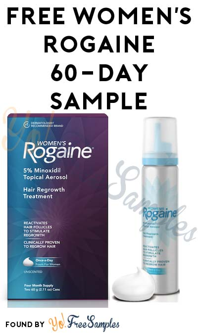 FREE Women's Rogaine 60-Day Sample (Stylists Only & Survey Required)