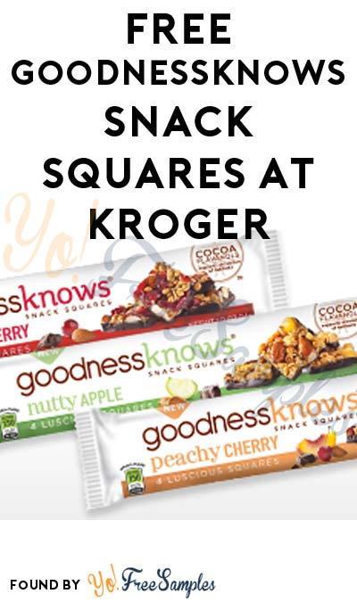 FREE goodnessknows Snack Squares At Kroger