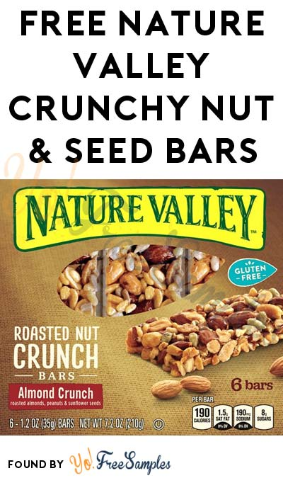 New Link: FREE Nature Valley Crunchy Nut & Seed Bars Sample For Betty Crocker Email Subscribers
