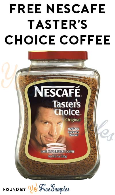 Possible FREE Nescafe Taster's Choice Coffee (Smiley360)
