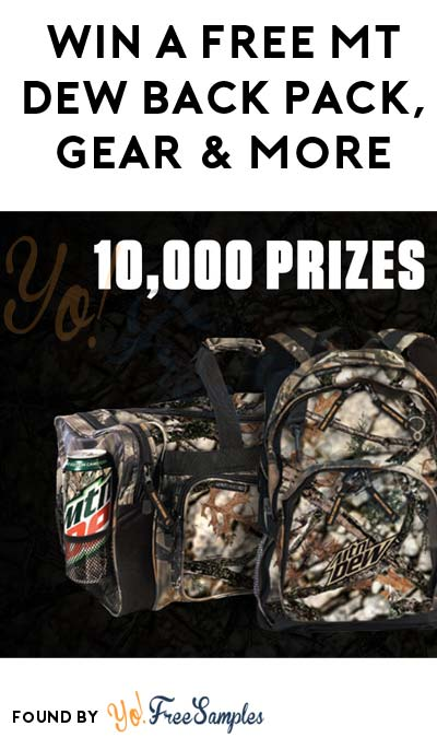 Win FREE Mt Dew Backpack, Hat, Gear & More