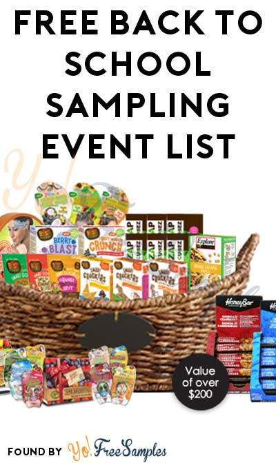 FREE Back To School Sampling Event List From TheSamplerApp (Facebook Required)