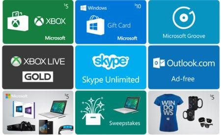 Bing Rewards Prizes