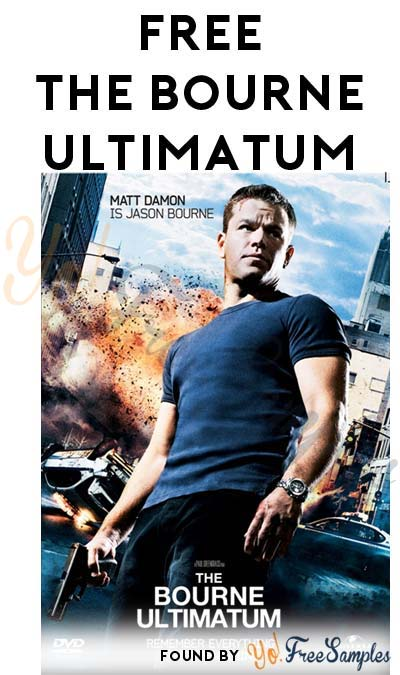 FREE The Bourne Ultimatum HD From Regal