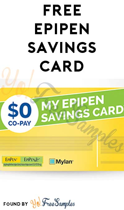 FREE AUVI-Q EpiPens & EpiPen Savings Card (Must Qualify)