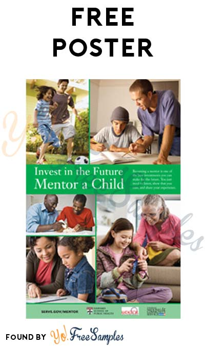 FREE Invest In The Future, Mentor A Child Poster