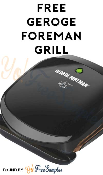 TODAY ONLY: FREE George Foreman Grill After Cashback (New TopCashBack Members Only)