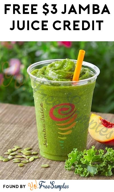 FREE Jamba Juice $3 Credit & Birthday Smoothie Or Juice For Joining Jamba Insider
