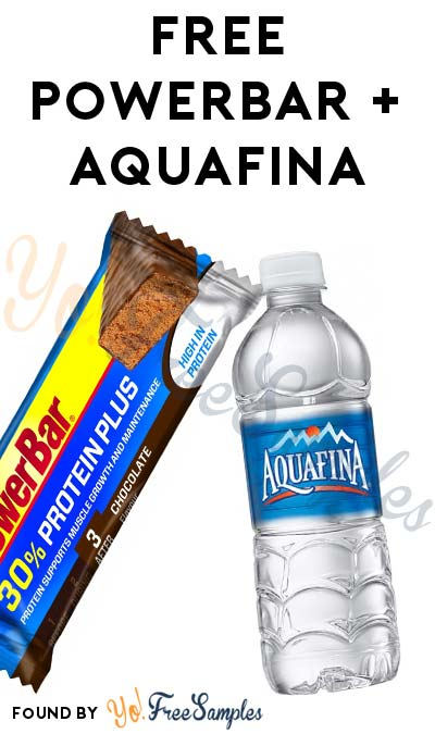 FREE PowerBar Protein Plus At Giant Eagle & Aquafina Water At GetGo
